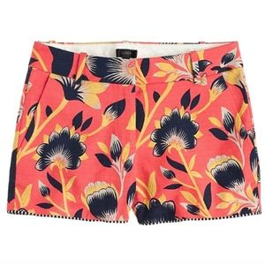 J. Crew Hibiscus Floral Print City Fit Shorts